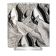 Blandings Angelfish Shower Curtain
