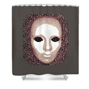 Blank Eyes Shower Curtain