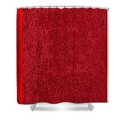 Blank Red Book Cover Shower Curtain
