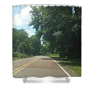 Blank Road Shower Curtain