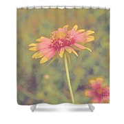 Blanket Flower Portrait Shower Curtain