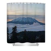 Blanket Of Fog Below Mount Saint Helens Shower Curtain