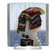 Blankets And Belts Shower Curtain