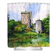 Blarney Castle Landscape Shower Curtain