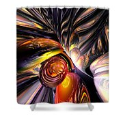 Blaze Abstract Shower Curtain