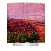 Blazing Autumn Shower Curtain