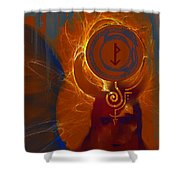 Blazzing Wisdom Through Odins Essence Shower Curtain