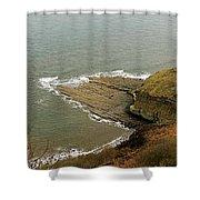 Blea Wyke Steel - Ravenscar Shower Curtain