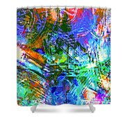 Bleached Vibrance Shower Curtain