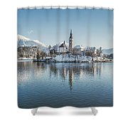 Bled Island Winter Dreams Shower Curtain