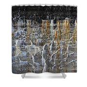 Bleeding Concrete Two Shower Curtain