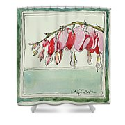 Bleeding Hearts II Shower Curtain