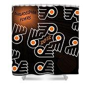 Bleeding Orange And Black - Flyers Shower Curtain by Trish Tritz