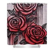Bleeding Roses Shower Curtain
