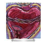 Bleeding Sacred Heart Shower Curtain