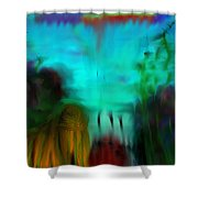 Lands Under The Sea - Abstract Landscape Shower Curtain