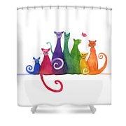 Blended Family Of Seven Shower Curtain