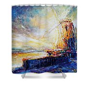 Blennerville Wind Mill Shower Curtain