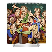 Blessed Is He Who Believes Without Seeing Shower Curtain by Anthony Falbo