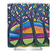 Blessing Trees 3 Shower Curtain