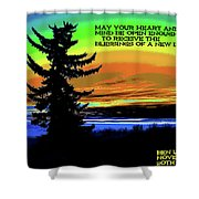 Blessings Of A New Day Shower Curtain