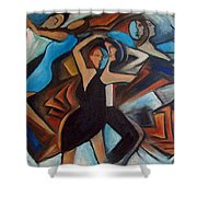 Bleu Danse Shower Curtain
