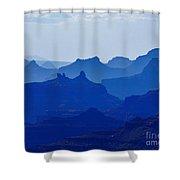Bleu Grand Canyon Shower Curtain