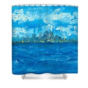 Bleueseas Shower Curtain