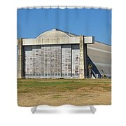 Blimp Hanger From Closed El Toro Marine Corps Air Station Shower Curtain