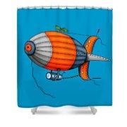 Blimp Orange Shower Curtain