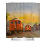 Blimps Shower Curtain