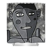 Blind Date Guy Shower Curtain