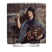 Blind Girl Of Pompeii Shower Curtain