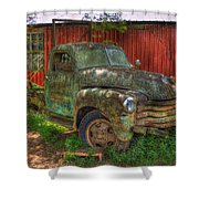 Blind In One Eye 1947 Chevy Flatbed Truck Art Shower Curtain