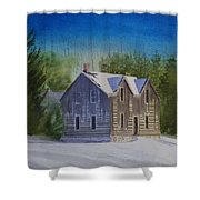Blind River Homestead In Winter Shower Curtain
