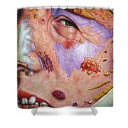 Blindsided Shower Curtain by James W Johnson