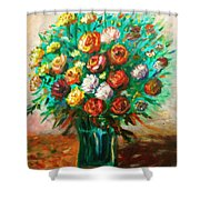 Blissful Blooms Shower Curtain