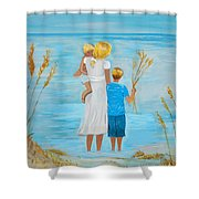 Blissful Breeze Shower Curtain