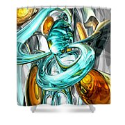 Blissfulness Abstract Shower Curtain