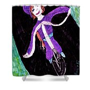 Biking Holiday Shower Curtain