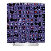 Bllue And Black Abstract #4 Shower Curtain