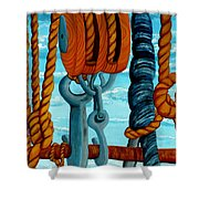 Block And Tackle Shower Curtain