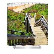 Block Island Beach - Rhode Island Shower Curtain