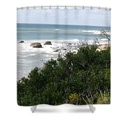 Block Island Sea Shore Shower Curtain