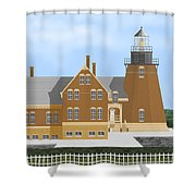 Block Island South East Rhode Island In Full Color Shower Curtain