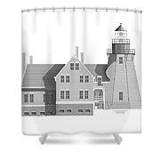 Block Island South East Rhode Island Shower Curtain