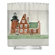 Block Island Southeast Lighthouse Shower Curtain