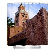 Blocks And High Tower Architecture From Orlando Florida Shower Curtain