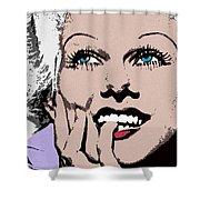 Blond Bombshell Shower Curtain