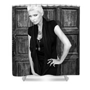 Blonde Attitude Bw Palm Springs Shower Curtain